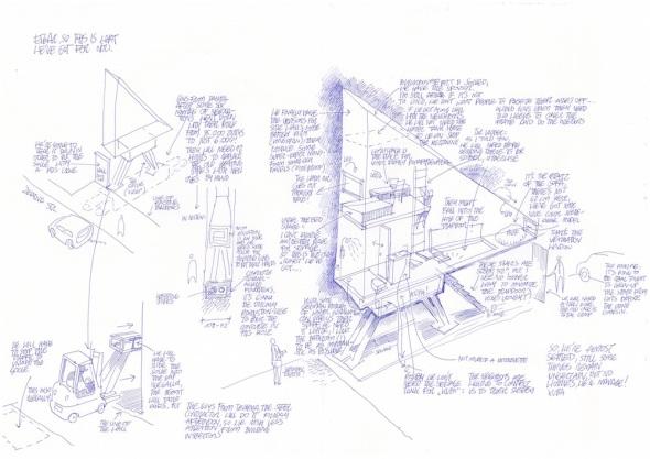 Jakub Szczęsny_Keret House_letter to Etgar_july 2012_A3